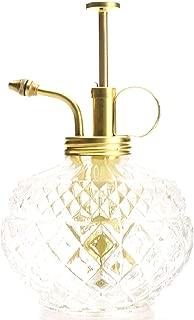 Purism Style Plant Mister- Clear Color Glass Bottle & Brass Sprayer (Matt Gold)