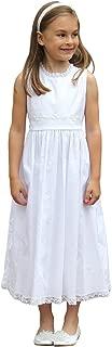 Girls Caroline Lace Beach Dress Lavender Pink White