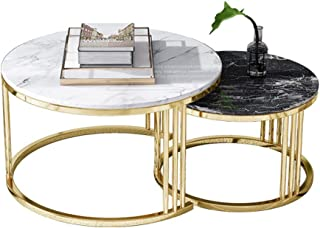 SKM Tavolino Laterale in Stile Francese in Metallo 82x39x76 cm Oro