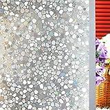 Película de lámina de vidriera Pegatina esmerilada de Cristal electrostático 3D película de Vidrio de Vinilo PVC autoadhesiva electrostática P 60x200cm