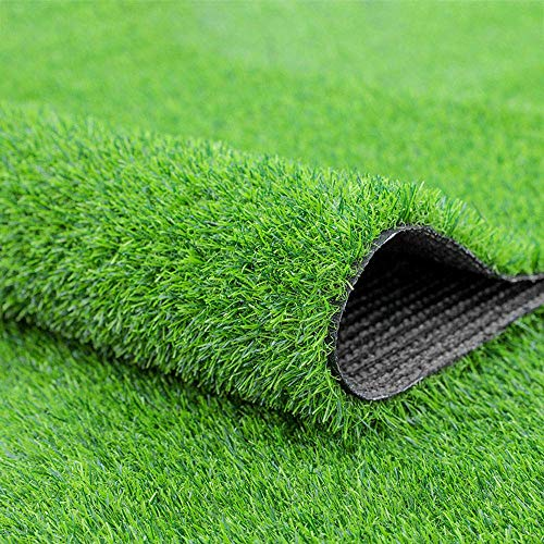 Fasmov Green Artificial Grass Rug Grass Carpert Rug 3.2' x 6.5', Realistic Fake Grass Deluxe Turf Synthetic Turf Thick Lawn Pet Turf -Perfect for Indoor/Outdoor