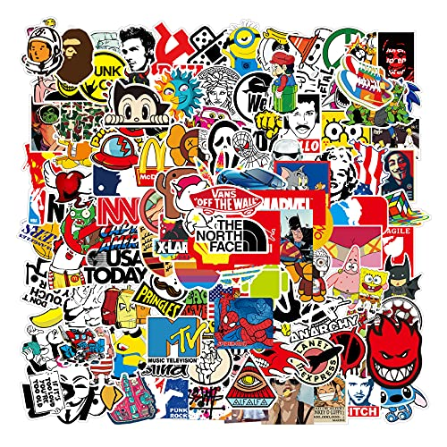 Cool Stickers Decals 106 Pack Random Sticker for Skateboard Helmet Laptop Bicycle Hypebeast Bomb Stickers