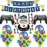 BESLIME Artículos de Fiestas para Fanáticos de los Videojuegos Decoraciones para Cumpleaños de Tema ...