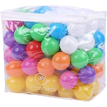 コノワ(conowa) カラーボール 100個 パステルカラー ボールプール (カラフル8色)