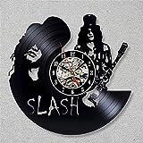 LKJHGU Reloj de Pared con Disco de Vinilo Reloj de música de diseño Moderno con Reloj de CD Vintage 3D Reloj de Pared Sala de Estar decoración del Dormitorio