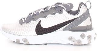 Nike React Element 55 Premium Sneakers Argento Nero Bianco CI3835-001 (44.5 - Argento)