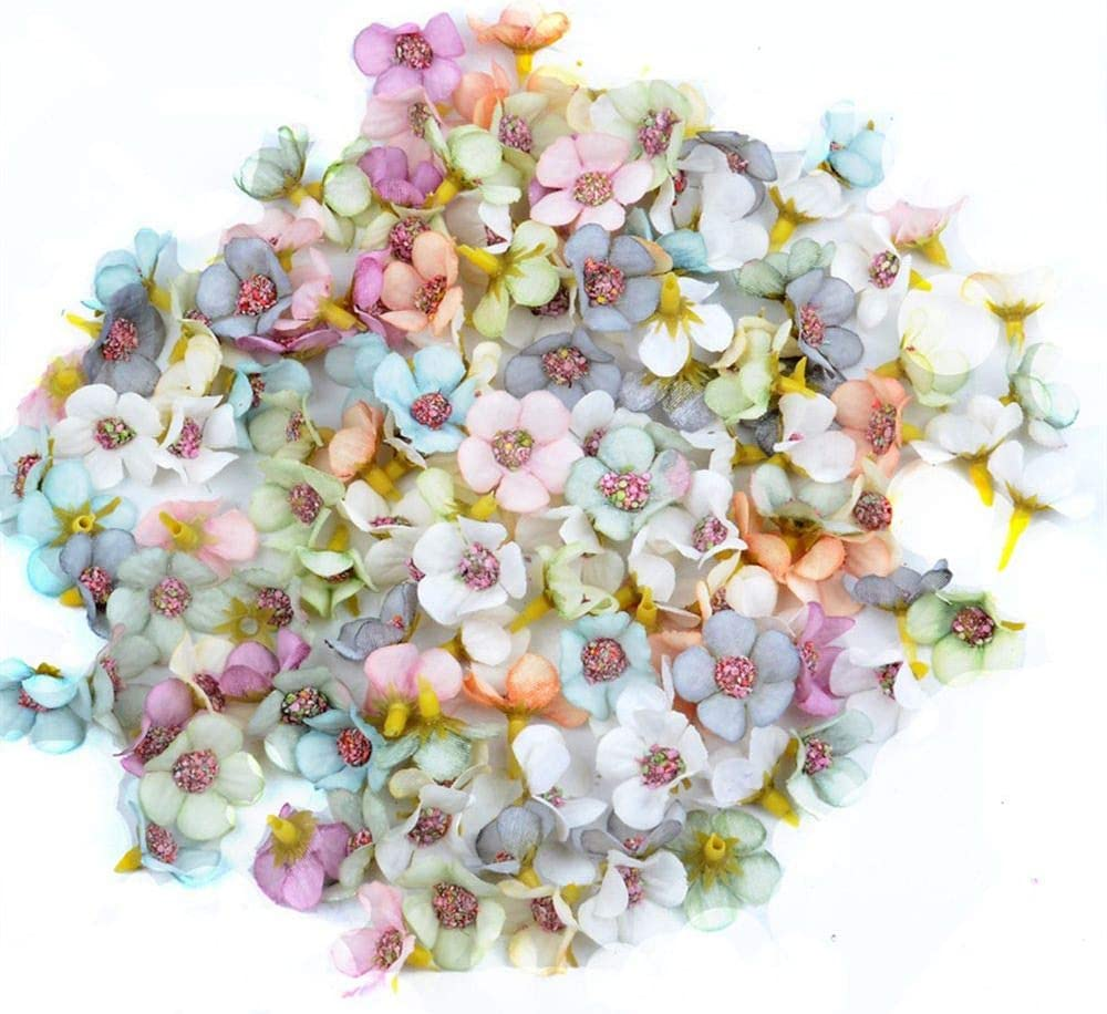 ZEYOU 100pcs Multicolor Daisy Nippon regular agency Flower Inventory cleanup selling sale Mini Silk Artificial Heads