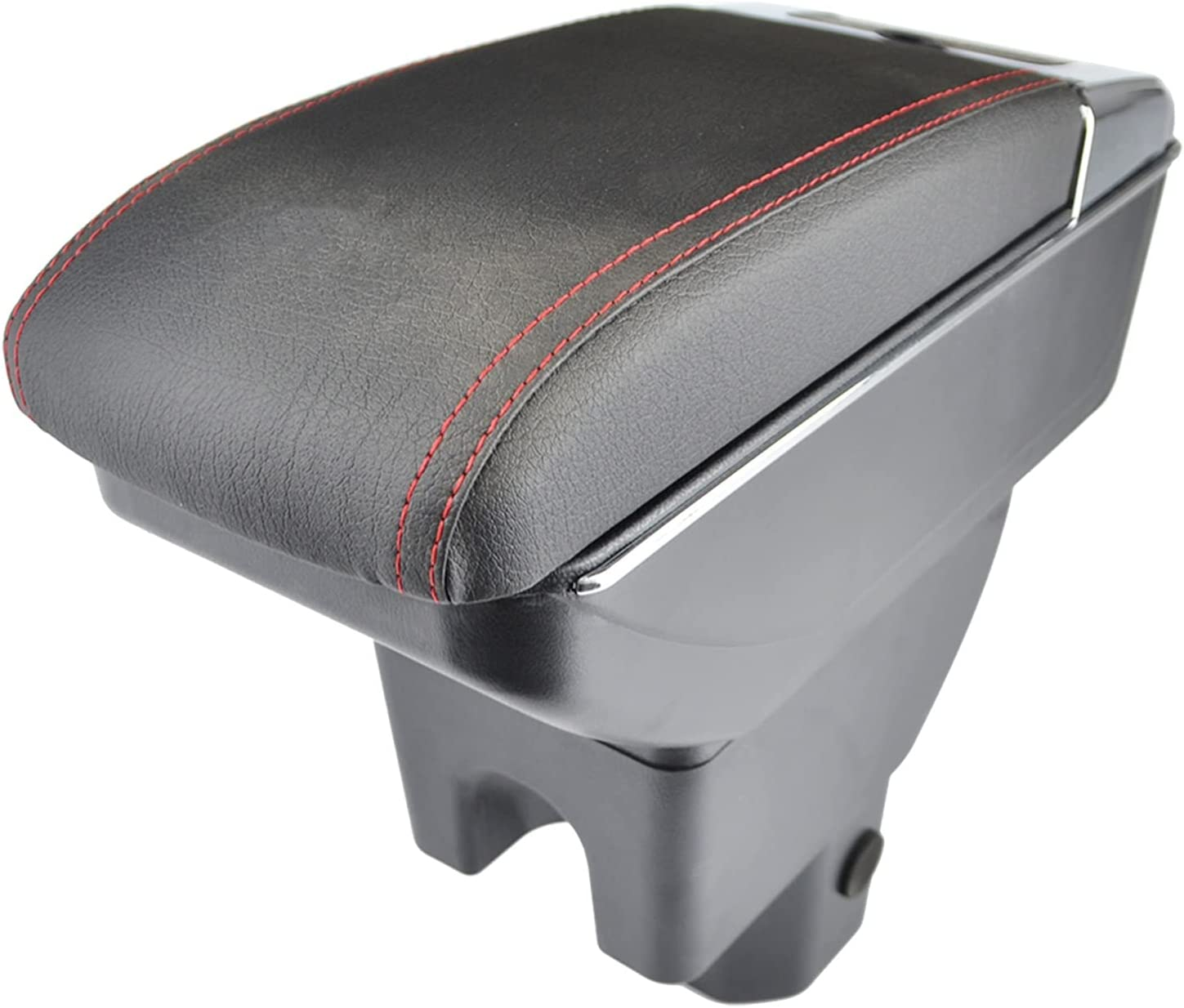 HDBH Tulsa Mall Armrest Double Storage for Latest item Leather Black Box