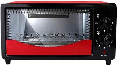 ASDFGH Mini four électrique 12 l - Petit grille-pain - Double porte en verre amovible - Plateau ramasse-miettes - Éclairag...
