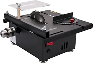 VEVOR Mini Table Saw, 96W Hobby Table Saw for Woodworking, 0-90 Angle Cutting Portable DIY Saw, 7-Level Speed Adjustable M...