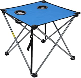 Simple Small Table/Travel Outing Folding Table Outdoor Camping Field Folding Table, Multi-color Optional (Color : Blue)