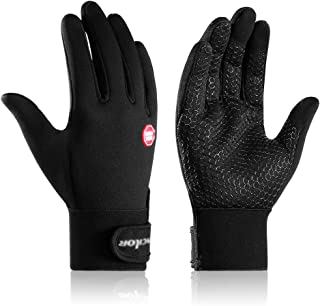 FIENVO Winter Cycling Gloves Womens Mens Touchscreen Warm Windproof Anti-Slip Waterproof Running Gloves for Cycling,Driving,Skiing,Outdoor Sports