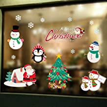 Hidreams 195 PCS Snowflakes Christmas Window Clings Decal Stickers, Xmas Window Stickers Decal 8 Sheets