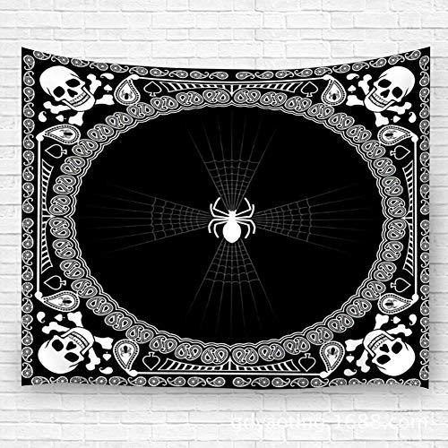 EU Hängender Wandteppich, Wand hängender Schal Schal Design von Spinnennetz- und Schädelwandteppichen 51