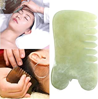globalqi Jade Gua Sha-skrapmassageapparat – högkvalitativ handgjord jade Guasha-bräda – Utmärkt verktyg för behandling av ...