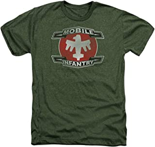 Starship Troopers Mobile Infantry Unisex Adult Heather T Shirt for Men and Women