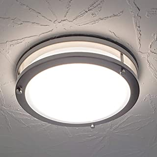 Drosbey 24W LED Ceiling Light Fixture, 10in Flush Mount Light Fixture, Ceiling Lamp for Bedroom, Kitchen, Bathroom, Hallway, Stairwell, 2200 Lumens, 5000K Daylight White