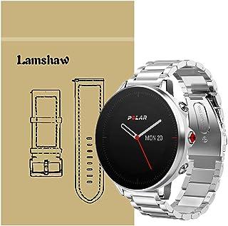 LvBu Armband kompatibel med Polar Vantage M, Classic rostfritt stål klockarmband för Polar Vantage M Smartwatch