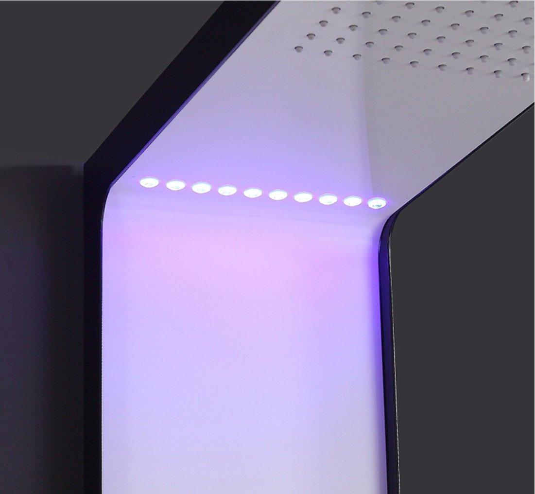 ZJMSDK Grifería de Baño mampara de Ducha con luz LED Ducha de ...