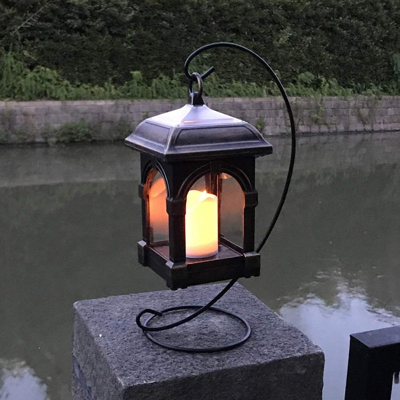 Neue Solarkerze Windlichter Simulation Schaukel Kerze Kronleuchter Solar Lichtsteuerung Wandleuchte Antike Kerze Windlicht (Farbe   F)