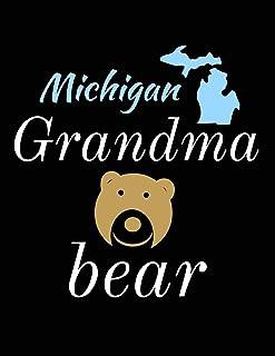 Michigan Grandma Bear: Bear Journal Notebook to Write in