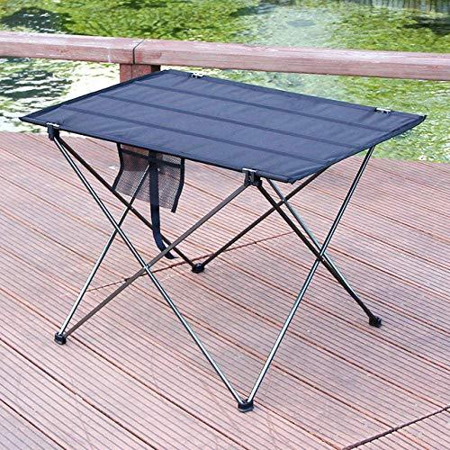 1yess Klapptisch Möbel Tisch im Freien beweglichen Klapptisch Camping Terrasse Picknick Aluminium-Klapptisch, große roten 8bayfa (Color : Big Gray)
