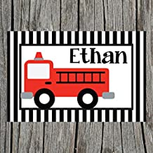 Firetruck Personalized Placemat