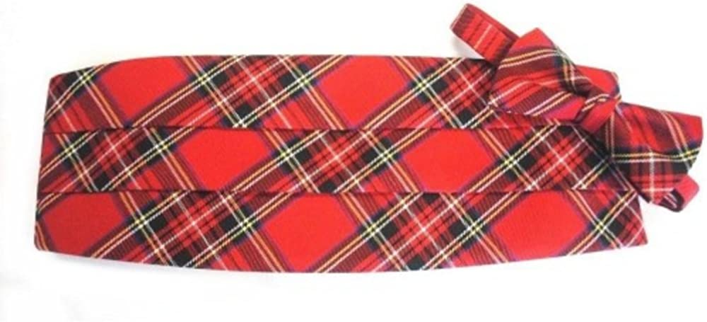Royal Stewart Christmas Tartan Plaid Cummerbund and Bow Tie