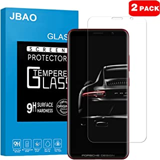 Huawei Porsche Design Mate RS Screen Protector,Jbao Direct [HD-Clear] [Easy-Installation] [Bubble Free] [Anti-Fingerprint] Tempered Glass Film for Huawei Mate RS [2-Pack]