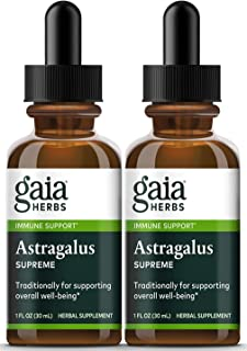 Gaia Herbs Astragalus Supreme, Liquid Herbal Extract, 1 Ounce (Pack of 2) - Deep Immune Support and Stress Resistance, wit...