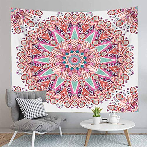 PPOU Mandala Tapiz decoración del hogar Colgante de Pared Estera de Playa Bohemia Estera de Yoga Fondo Familiar Tapiz de Tela A23 130x150cm
