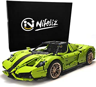 Nifeliz Racing Car Nzo MOC Building Blocks and Engineering Toy, Adult Collectible Model Cars Set to Build, 1:8 Scale Green Race Car Model (2798 Pcs)
