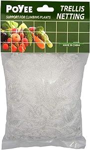 POYEE Garden Trellis Netting - Heavy Duty Polyester Net - 5x15Ft - Support for Climbing Vining Plants