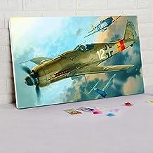 ZTTDDP Pintura Digital, Segunda Guerra Mundial, Acorazado de Pintura Digital, Pintura Modular, avión, Pintura al óleo