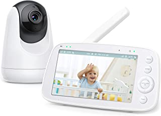 """Baby Monitor, 5"""" 720P HD Display Video Baby Monitor with Camera and Audio, IPS Screen, 4500 mAh Battery, 1000 ft Range, Tw..."""