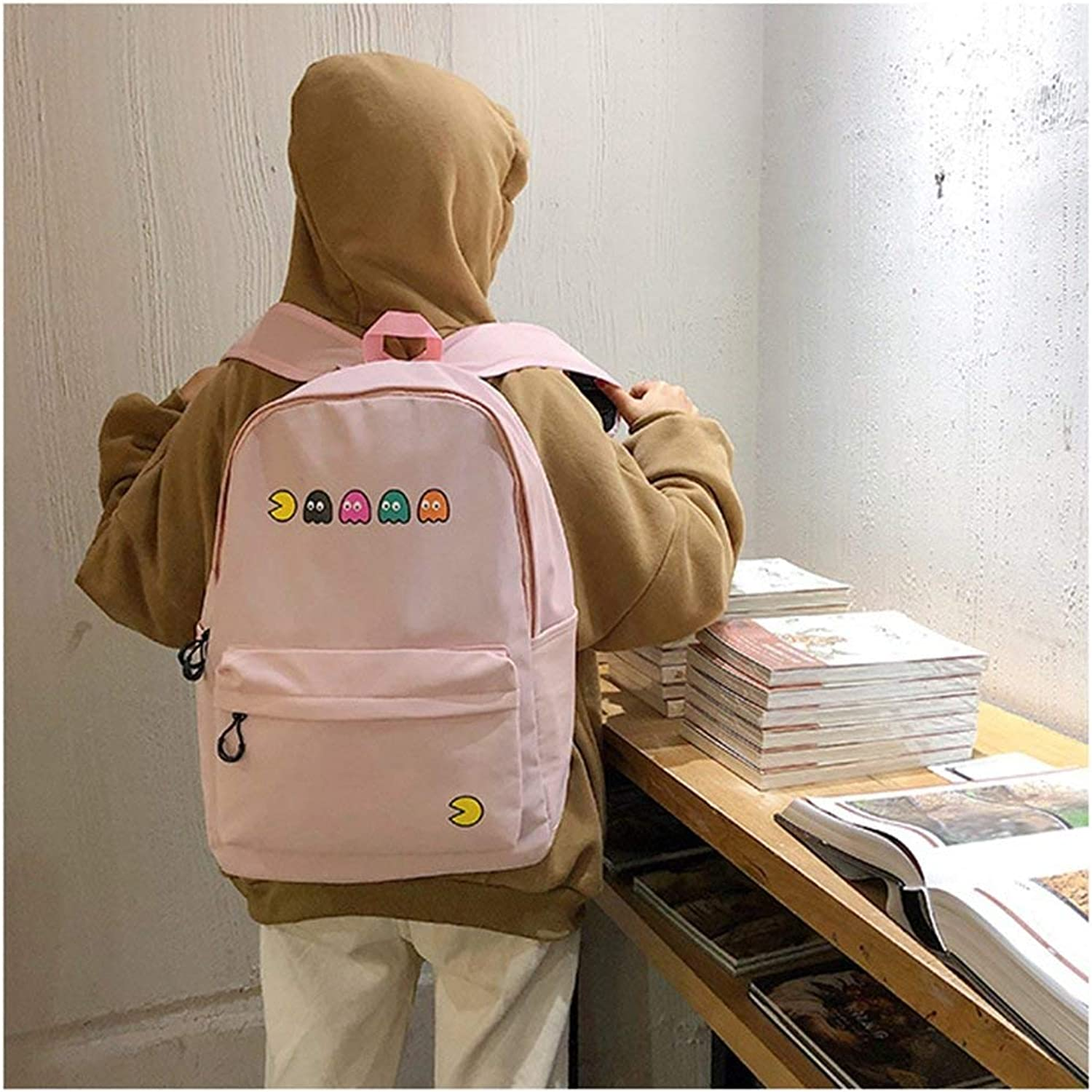 JINQD HOME Personality Backpacks Creative Cute Cartoon Pattern Schoolbag Student Travel Casual Backpack