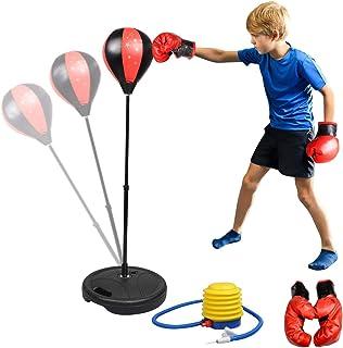 Abree Punchingball Boxstand Standbox Reflex Fightball Set Speed Fitness Punch Boxen Set