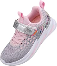 UOVO Girls Shoes Running Sneakers Little Kids Tennis Shoes Fashion Lightweight Athletic Shoes Mesh Walking School Sport Shoes