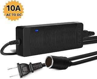 LOETAD AC to DC Converter 10A 120W 100-240V to 12V Car Cigarette Lighter Socket AC/DC Power Supply Charging Adapter
