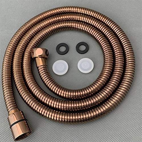 NLJYSH 1 Stück 1,5 m / 59 Zoll Edelstahl Flexible Dusche/Bidet Schlauch mit Kupferkern (Color : Rose Gold, Size : 150cm)