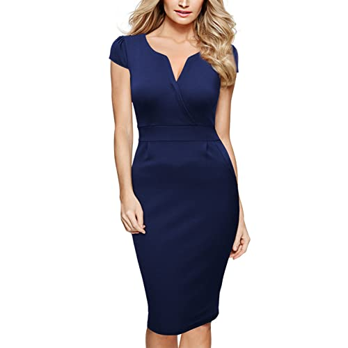 Blue Pencil Dresses: Amazon.com
