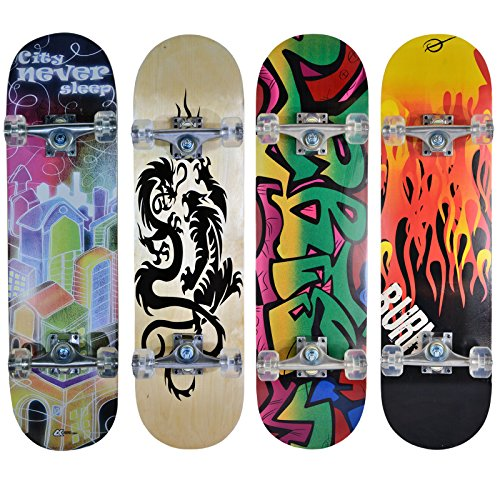 Hansson.Sports Skateboard Komplett Board 79x20cm - Motiv D