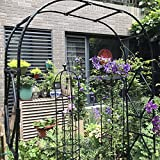 Arco de Rosas Trepadoras, Jardín Decoración, Metal Arco Decorativo para Enredaderas, Decoracion Jardin Arco de Metal para Plantas Trepadoras (Negro/Blanco)