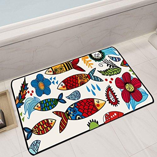WLH- Leuke Cartoon Deurmat Woonkamer Slaapkamer RUG Home Keuken Badkamer Non-slip absorberend kussen (Color : A, Size : 100x160cm)