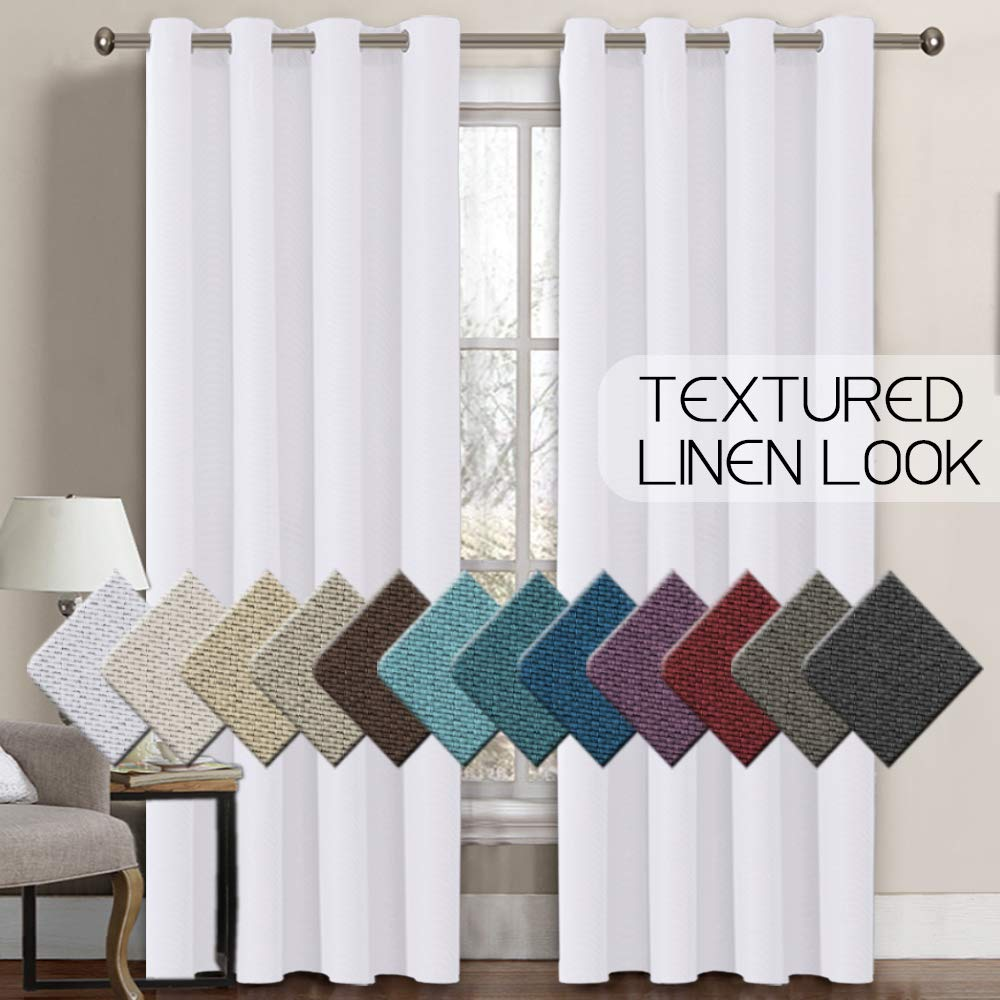 Charcoal Gray H.VERSAILTEX Theme Insulated Kitchen Curtain Valances Rod Pocket Solid Window Valances for Living Room 2 Pack 52 x 18