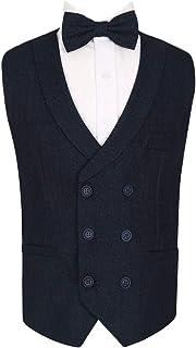 7539caf89595 SIRRI Flamingo Men's Boys Double Breasted Herringbone Waistcoats Sets