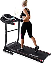Sparnod Fitness STH-1200 (3 HP Peak) Automatic Treadmill (Free Installation Service) - Foldable Motorized Treadmill for Ho...
