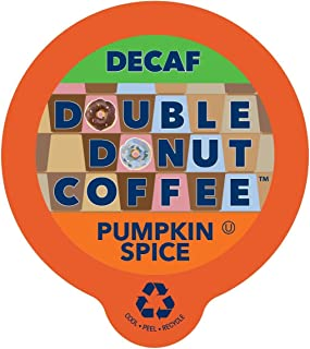 Double Donut Flavored Coffee Single Serve Cups, Pumpkin Spice, 24Count