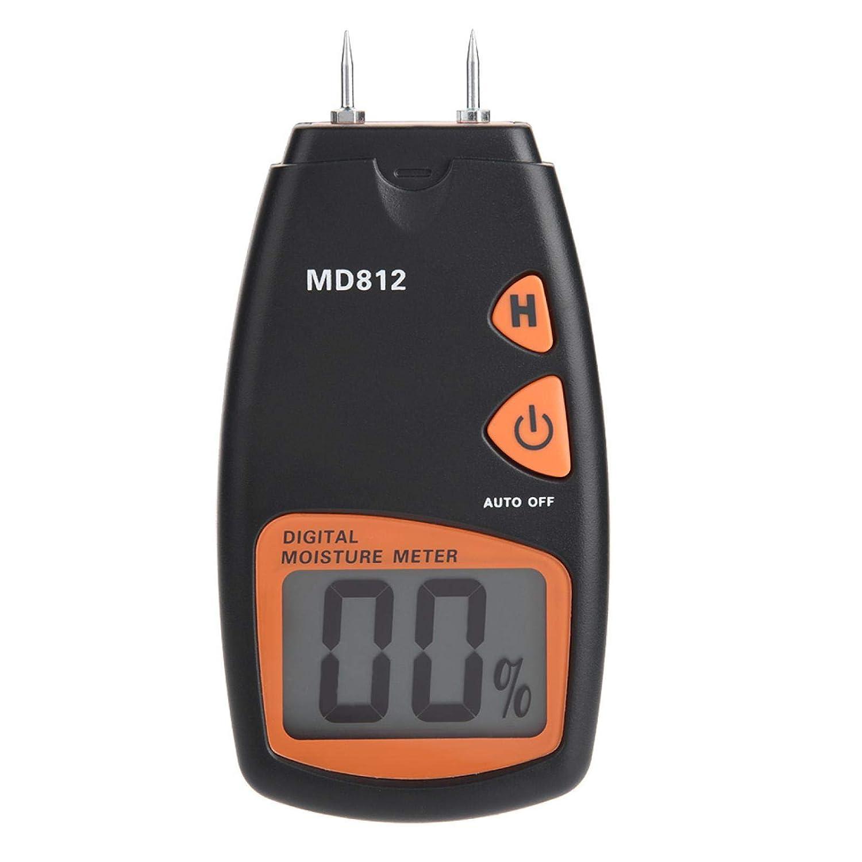 Medidor de humedad de madera, higrómetro digital Higrómetro de madera 2/4 pines Medidor de humedad Detector LCD para árboles