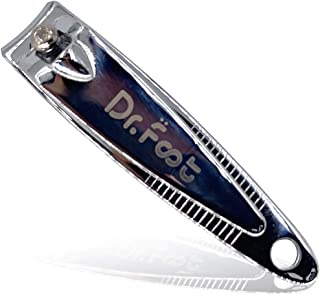 Dr. Foot's Nail Clippers Fingernail and Toenail Clipper Cutter Sturdy Stainless Steel Sharp for Men and Women